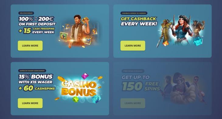 Casinoin velkomsttilbud