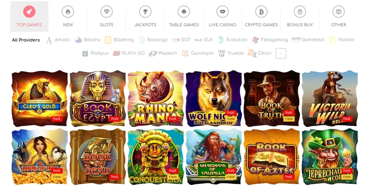 Spiludvalg hos Loki Casino